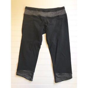 Lululemon crop leggings mid rise capri black sz 10